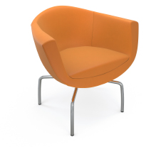 Small Sorriso Orange Lounge Seat AGATI Furniture